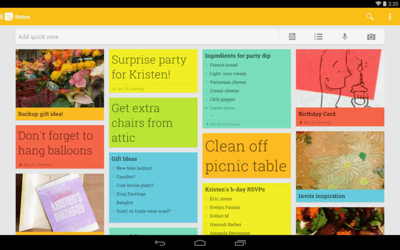 google-keep-notes