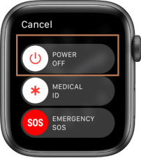 Power Off Menu - Restart Your Apple Watch