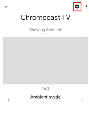 Chromecast settings