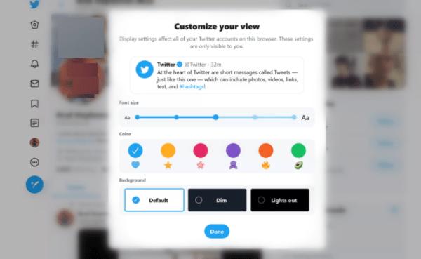 Select Twitter Dark Mode