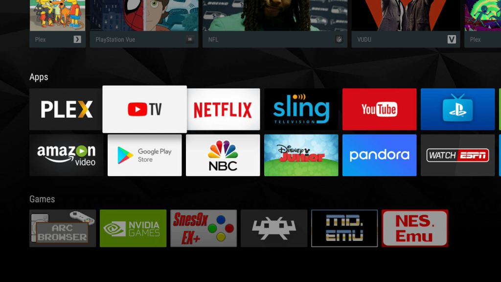 YouTube TV on NVIDIA SHIELD TV