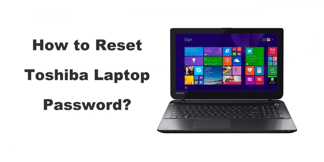 How to Reset Toshiba Laptop Password in 2 Ways
