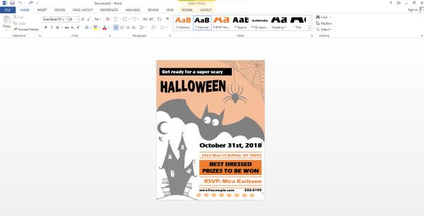 Edit Flyer Template