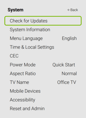 Check for update - How to Add Disney Plus to Vizio Smart TV