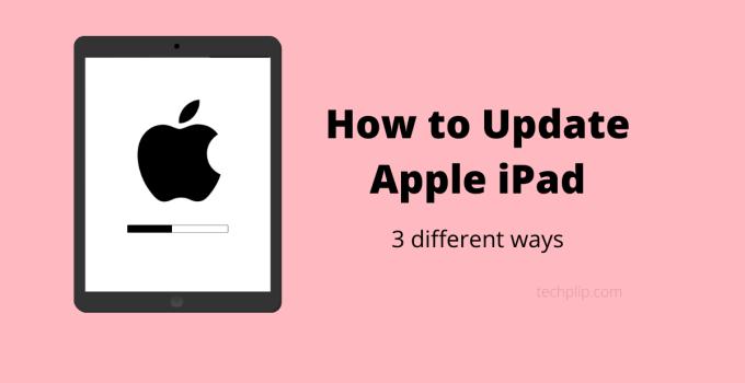 How to Update iPad