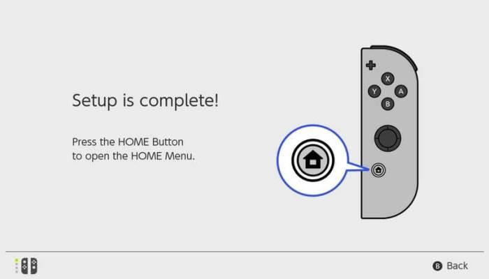 Setup Complete - Set Up Nintendo Switch
