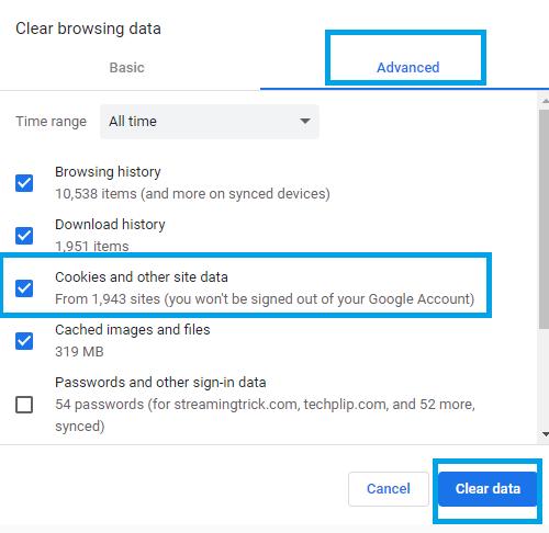 Google Chrome - How to Delete Cookies on Windows 10