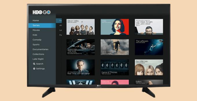 HBO GO on LG Smart TV