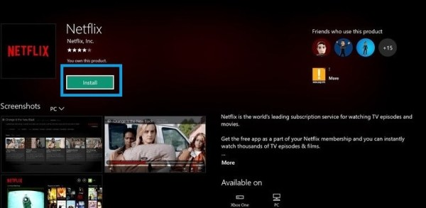 Install Netflix on Xbox 360 or One