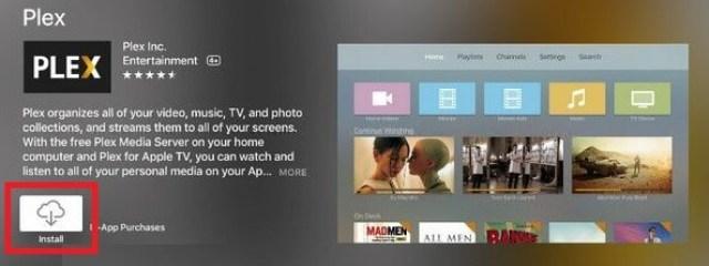 Plex on Apple TV - install