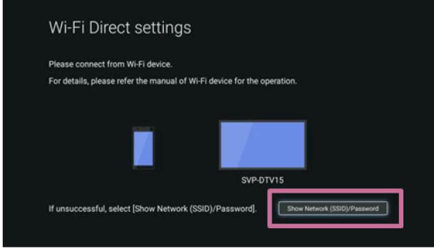 show network password