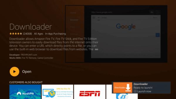 Open Downloader - Terrarium TV on Firestick