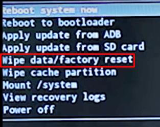 wipe data - Reset MXQ Pro
