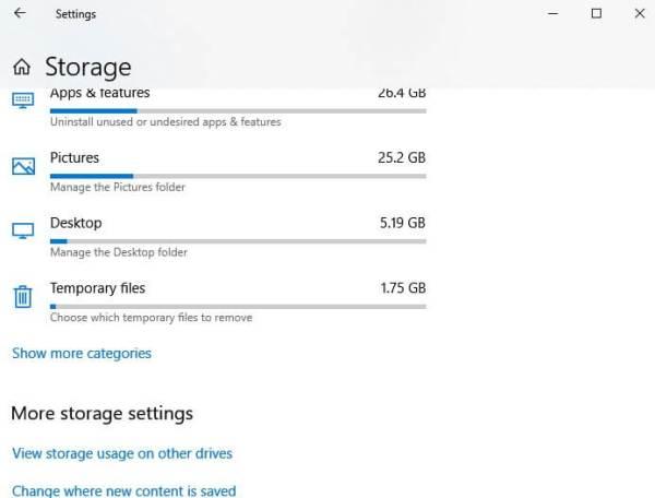 Temporary Files - Delete Temporary Files in Windows 10