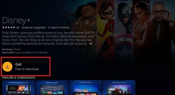 Disney Plus on Amazon Firestick