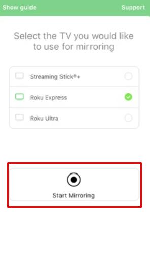 start mirroring
