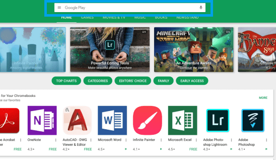 Play Store on Chromebook