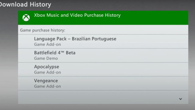 download history