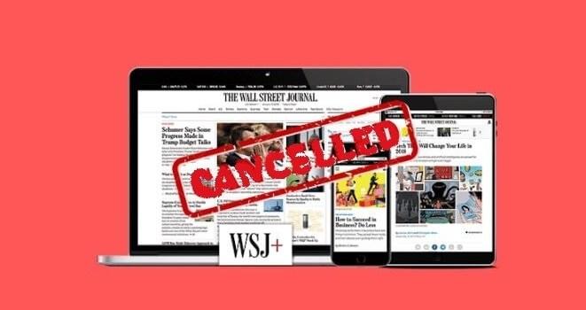 Cancel WSJ Subscription