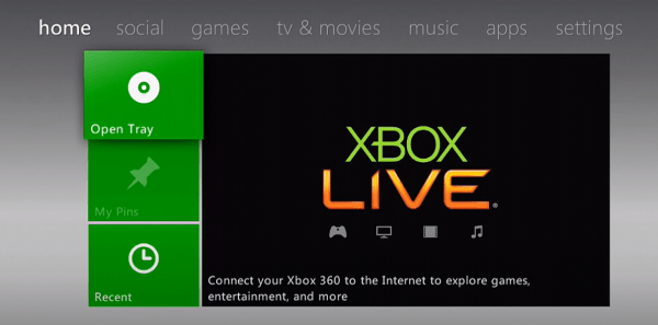 Xbox Home Screen - Update Xbox
