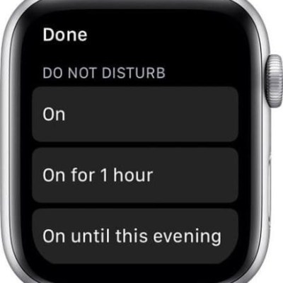 Managing DND on apple watch.