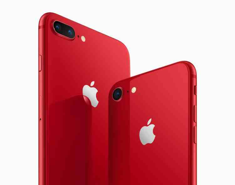 iPhone8 iPhone8PLUS PRODUCT RED angled back 041018 1024x807 - Apple Introduces iPhone 8 and iPhone 8 Plus RED Special Edition, No iPhone X RED Edition yet