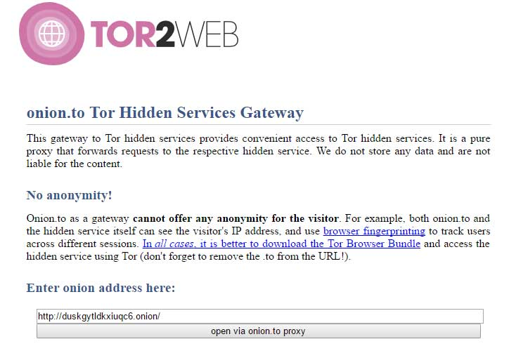 How to access deep web onion sites without using Tor Onion.to