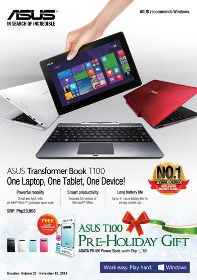 ASUS Transformer Book T100 Powerbank Promo