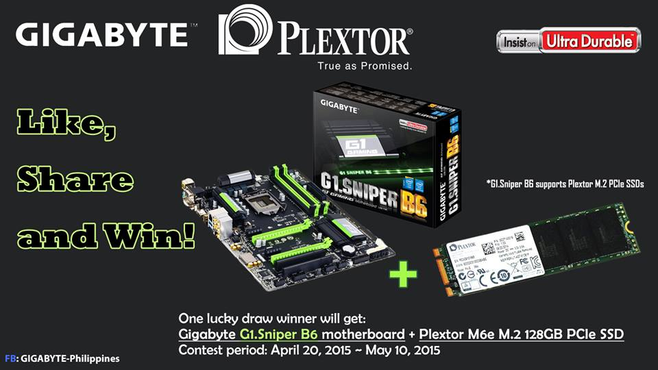 Giveaway Alert: Plextor Gear up Your Gaming Performance with Gigabyte