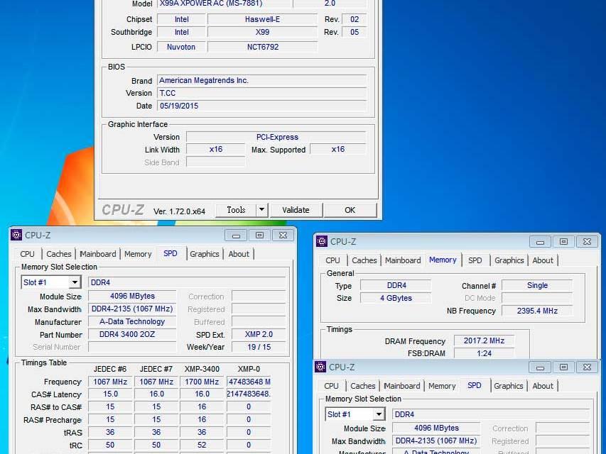ADATA XPG Z2 DDR4 3400 OC Memory Breaks New Record @ 4034MHz!