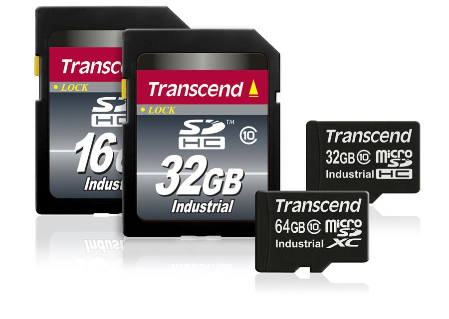 Transcend Adds Industrial-Grade 64GB Micro SD Memory Cards
