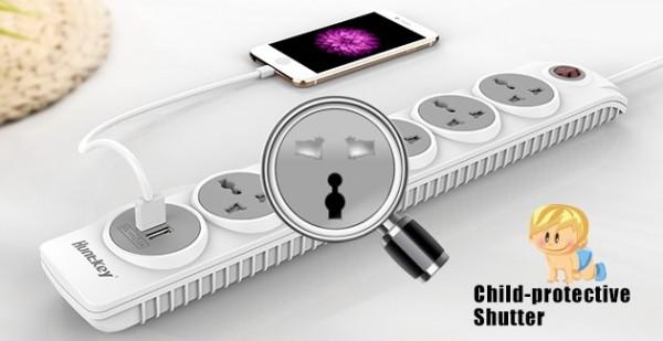 Huntkey Launches SZN607 Power Strip w/ Child Protection