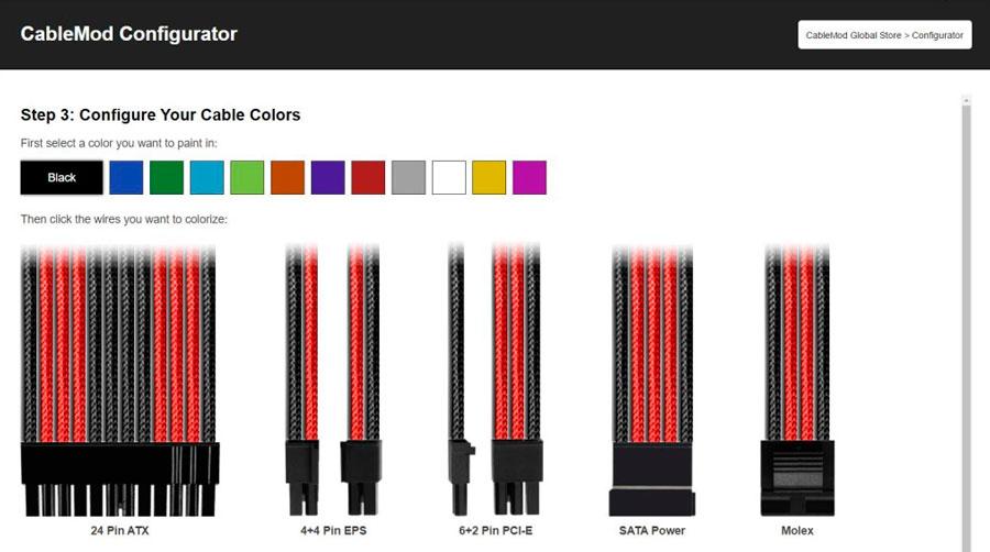 CableMod Introduces Configurator