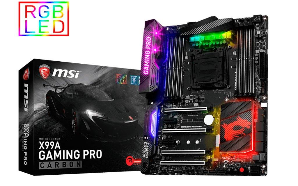 MSI Debuts RGB X99A GAMING PRO CARBON Motherboard
