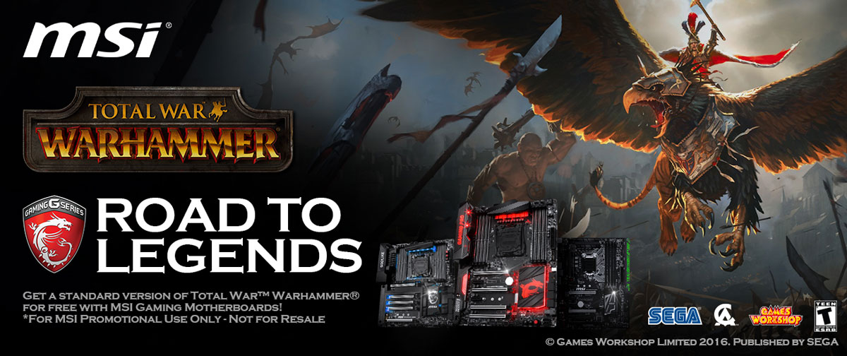 Get Total War: WARHAMMER FREE with Selected MSI Motherboards | TechPorn
