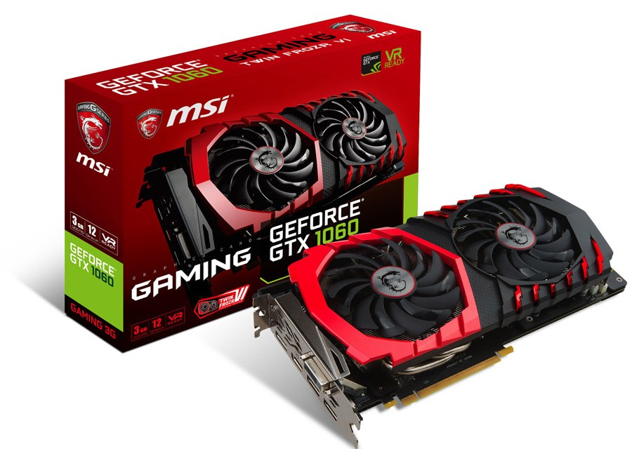MSI Announces GeForce GTX 1060 3GB Models