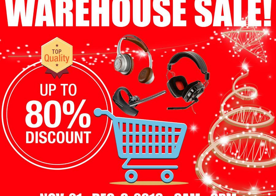 Warehouse Sale Features Plantronics Edifier and Altec Lansing