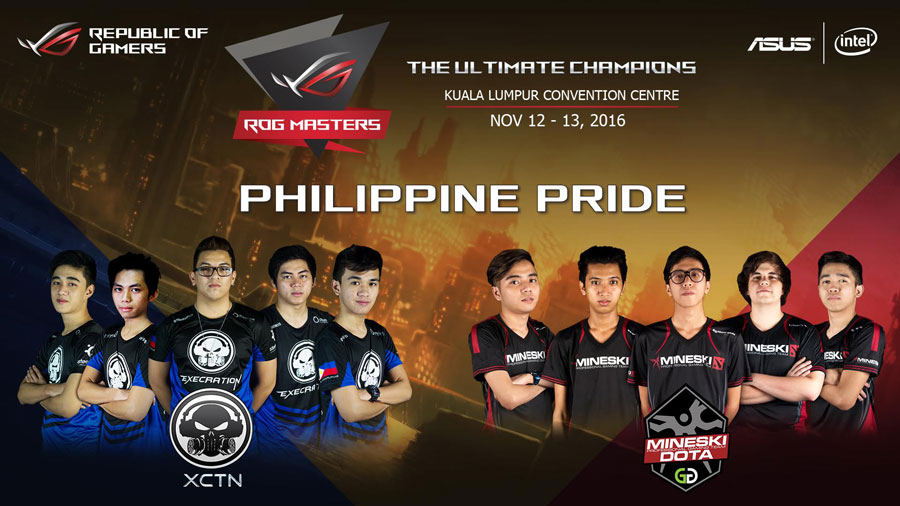 Execration and Mineski DOTA Team To Represent PH in the ROG Masters 2016