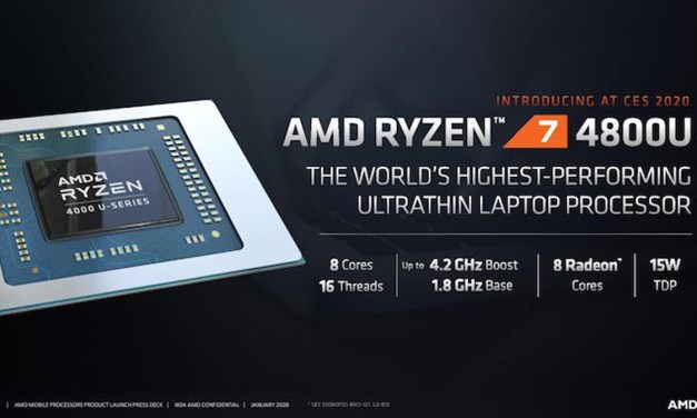 AMD Announces Ryzen 4000 Series Mobile with Radeon Graphics