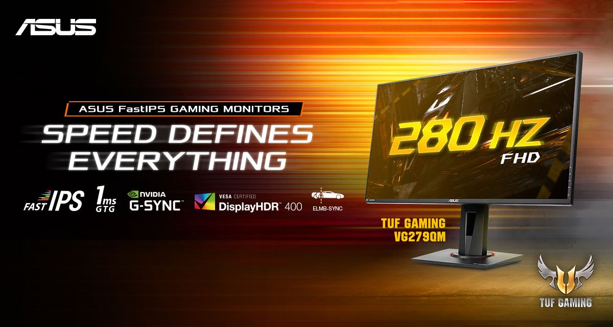 ASUS Announces 144Hz and 280Hz FastIPS Gaming Monitors