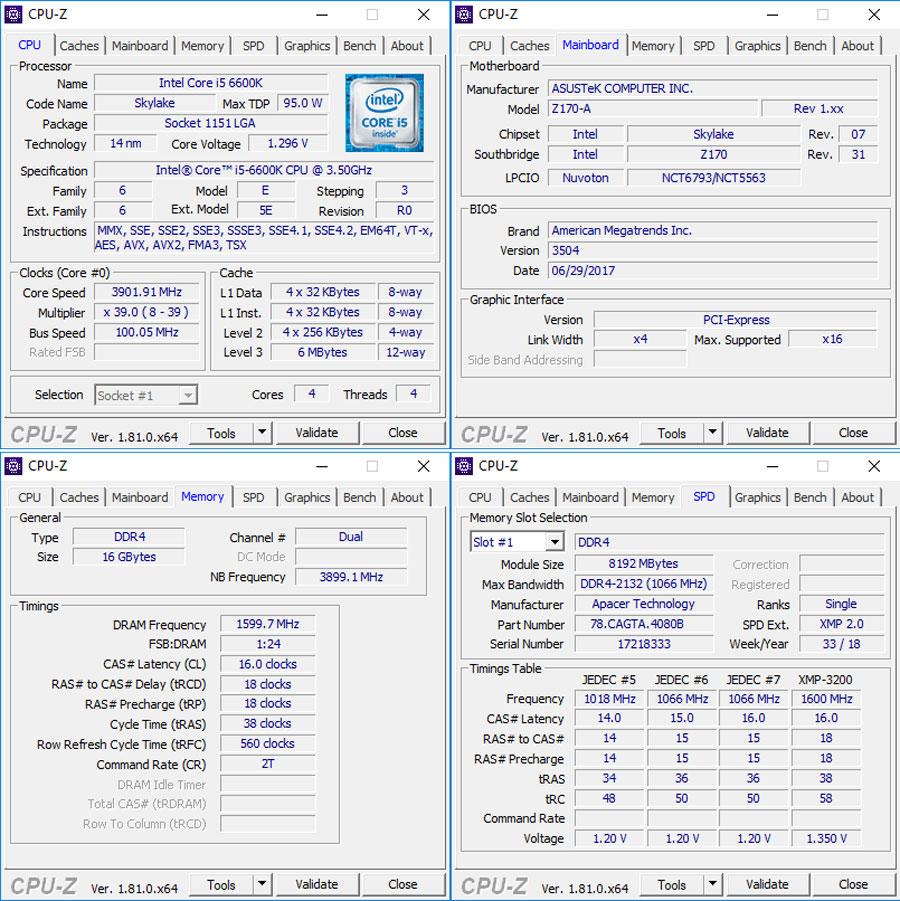 Apacer Panther Rage RGB 3200Mhz Benchmark (1)