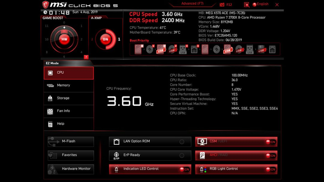 MSI MEG X570 Ace UEFI BIOS (2)
