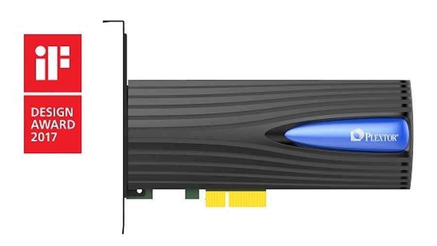 Plextor M8Se NVMe SSD wins iF Design Award 2017