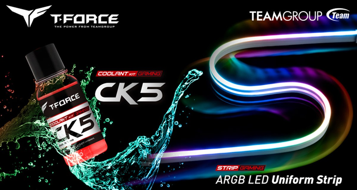 TEAMGROUP Releases T-FORCE Coolant Kit and RGB Strip