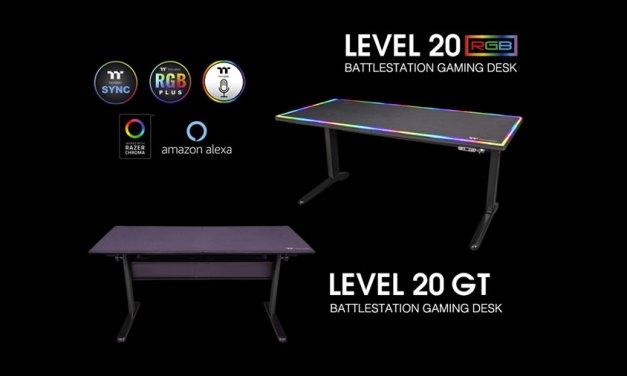 Thermaltake Unveils Level 20 BattleStation Gaming Desks