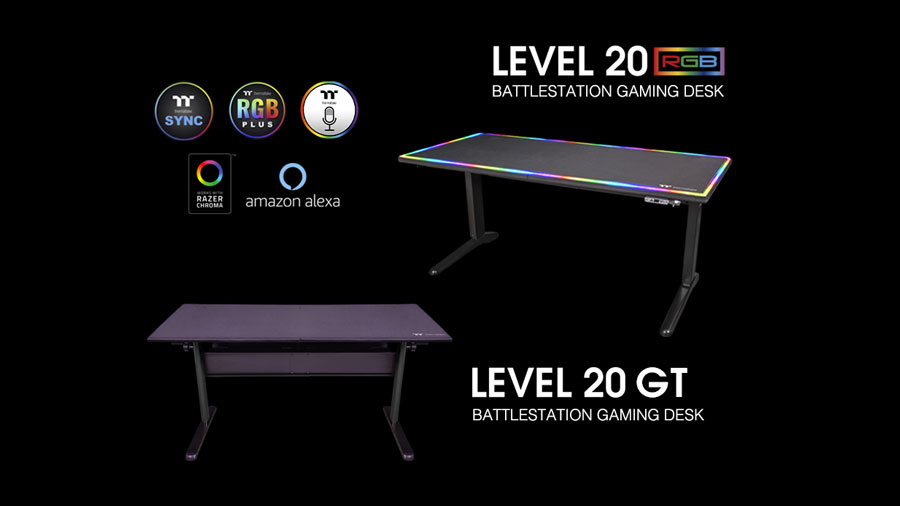 Thermaltake Unveils Level 20 BattleStation Gaming Desks