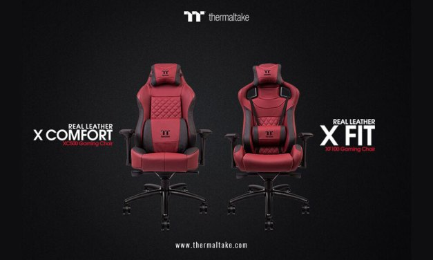 Thermaltake Announces  X-FIT and X-COMFORT Gaming Chair in Burgundy Red