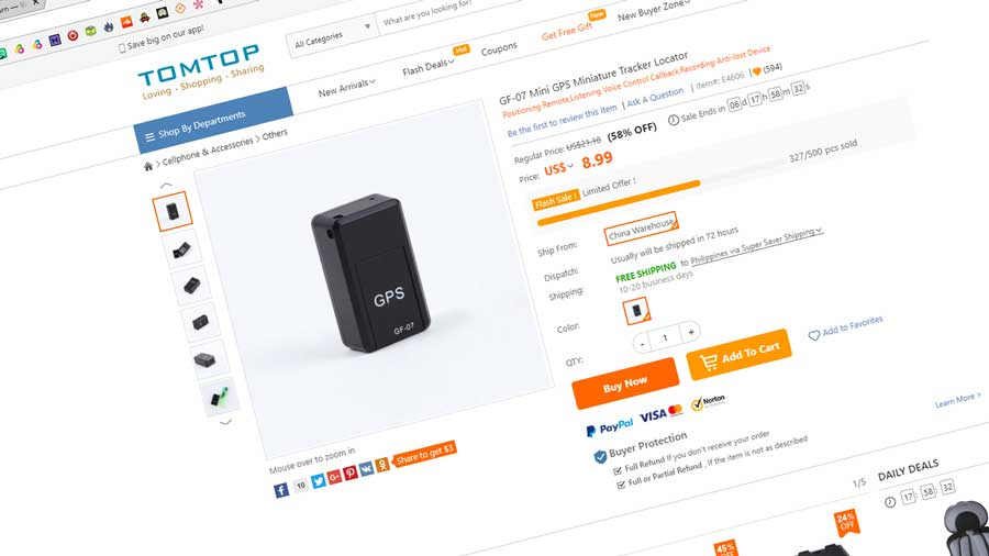 Budget Oriented GF-07 Mini GPS Tracker on Sale at TomTop