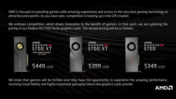 Amd Releases Updated Radeon Rx 5700 Pricing Before Launch Techporn