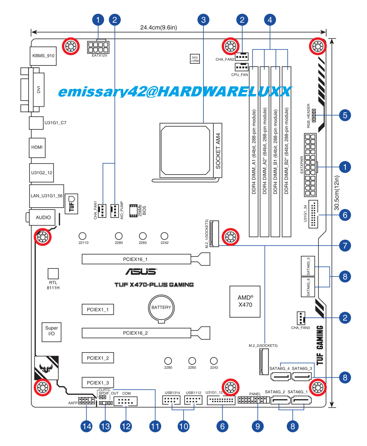 Asus Amd X470 Motherboard Layout Drawings And Specs Sheets Leaked